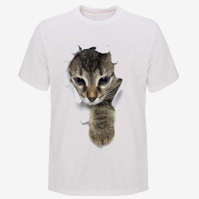 Mens Fashion 3D Cat Short Sleeve T-ShirtMens Short Sleeve Tees<br>Mens Fashion 3D Cat Short Sleeve T-Shirt<br><br>Fabric Type: Modal<br>Material: Modal<br>Neckline: Round Collar<br>Package Content: 1 x T-Shirt<br>Package size: 1.00 x 1.00 x 1.00 cm / 0.39 x 0.39 x 0.39 inches<br>Package weight: 0.1800 kg<br>Pattern Type: Animal<br>Product weight: 0.1700 kg<br>Season: Summer<br>Sleeve Length: Short Sleeves<br>Style: Casual
