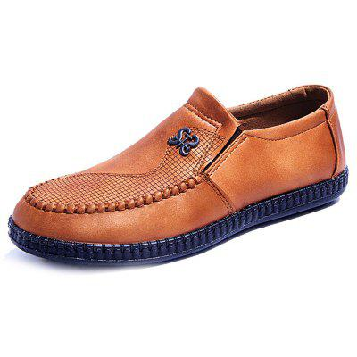 Men New Round-head Hollow Breathable Slip On Shoes