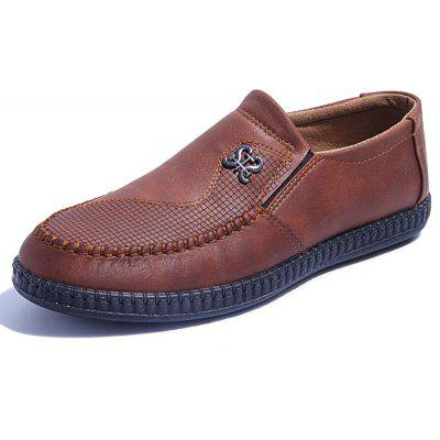 Hombre New Round-head Hollow Respirable Slip On Shoes