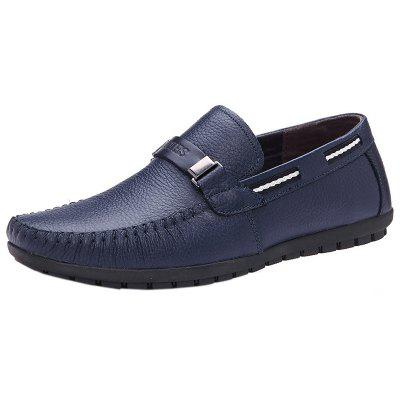 Men Casual Comfort Leather Driving Slip-on Loafer Shoes