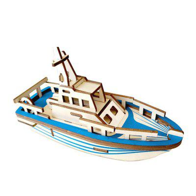 Criativo Lifeboat 3D Madeira DIY Laser Cut Puzzles Jigsaw Modelo Toy