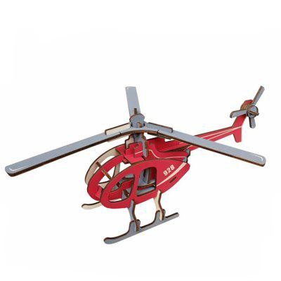 Creative Helicopter 3D Wood DIY Laser Cut Puzzles Jigsaw Model Toy