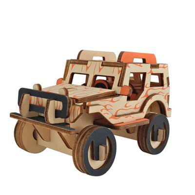 Creative Car 3D Wood DIY Laser Cut Puzzles Jigsaw Model Toy