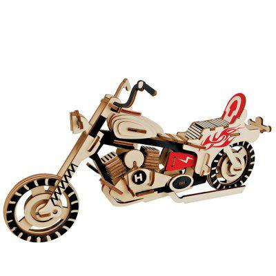 Creative Moto 3D Wood DIY Laser Cut Puzzles Jigsaw Model Toy