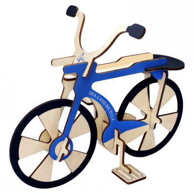 Creative Bike 3D Wood DIY Laser Cut Puzzles Jigsaw Model Toy
