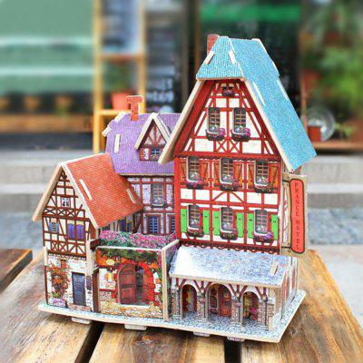 Creative 3D Wood Puzzle DIY Model French Style Hotel Building Puzzle ToyModel &amp; Building Toys<br>Creative 3D Wood Puzzle DIY Model French Style Hotel Building Puzzle Toy<br><br>Gender: Unisex<br>Materials: Wood<br>Package Contents: 1 x DIY Puzzle Model<br>Package size: 23.60 x 18.90 x 12.80 cm / 9.29 x 7.44 x 5.04 inches<br>Package weight: 0.2740 kg<br>Product size: 16.50 x 12.90 x 18.60 cm / 6.5 x 5.08 x 7.32 inches<br>Product weight: 0.2600 kg<br>Stem From: Europe and America<br>Theme: Buildings