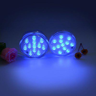 BRELONG 12LED Remote Dive Lights Colorful Plum  2pcsNovelty lighting<br>BRELONG 12LED Remote Dive Lights Colorful Plum  2pcs<br><br>Brand: BRELONG<br>Features: Waterproof<br>Material: PS<br>Package Contents: 2 x LED Diving Light<br>Package size (L x W x H): 11.00 x 11.00 x 8.00 cm / 4.33 x 4.33 x 3.15 inches<br>Package weight: 0.3800 kg<br>Product size (L x W x H): 10.50 x 10.50 x 3.00 cm / 4.13 x 4.13 x 1.18 inches<br>Product weight: 0.1550 kg<br>Suitable for: Holiday Decoration, Party
