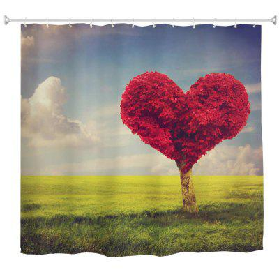 Love Tree Water-Proof Polyester 3D Printing Bathroom Shower Curtain