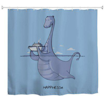 Loch Ness Monster Water-Proof Polyester 3D Printing Bathroom Shower Curtain
