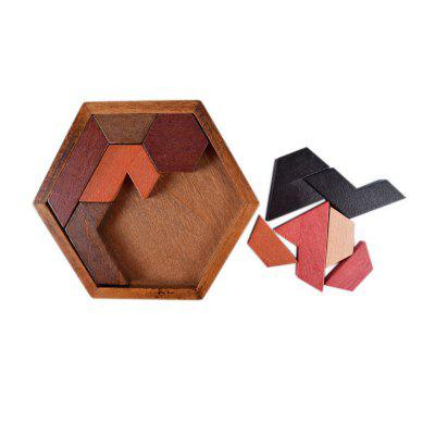 Hexagon Puzzle Developmental Intelligence Toy for Kids