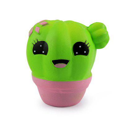 Plant Cactus Jumbo Squishy Slow Rebound Toy - GREEN