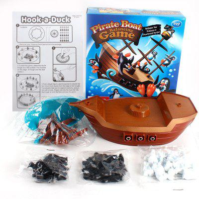 Penguin Pirate Ship Balance Puzzle Board Game Parent Child Interactive Toy novelty educational puzzle toy saving penguin desktop game