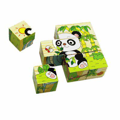 Cartoon Animal Three-dimensional Jigsaw Children Puzzle 9 Pieces Toy