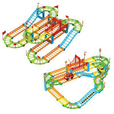 Electric Assembly Color Variable Speed Track Toy - MULTI