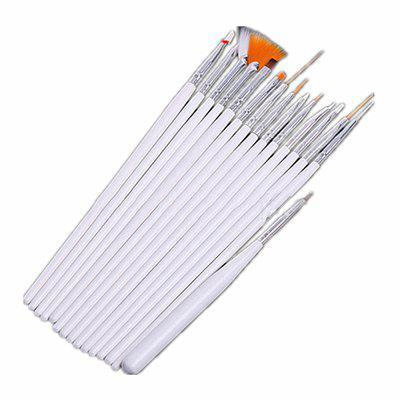Multi-functional Nail to Painting Pen Canvas Oil Brush Two Colors 15PCS