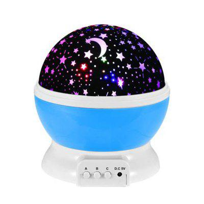 Creative Colorful Led Star Rotation Projection Home Decoration Lamp