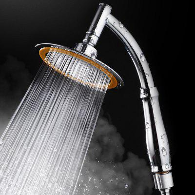 Bathroom Rainfall Ionic Nano Shower Head Round Chrome Ultra-Thin - 15CM SILVER