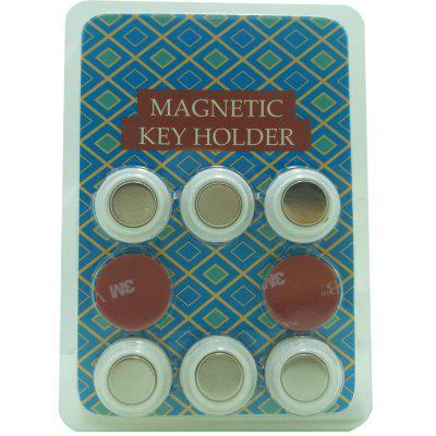 6 PCS Magnetic Key Holder of Simple Style