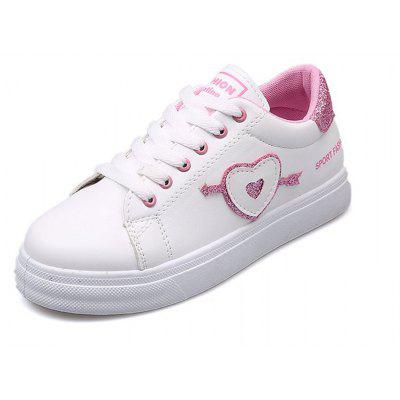 2018 New Love White Leisure Shoes
