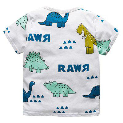New Boy Cartoon Dinosaur Letter Printed Short Sleeve T-shirtBoys Tops &amp; T-shirts<br>New Boy Cartoon Dinosaur Letter Printed Short Sleeve T-shirt<br><br>Collar: Round Neck<br>Embellishment: Pattern<br>Head Drawstring: Without<br>Material: Cotton<br>Neck Drawstring: Without<br>Package Contents: 1 x T-shirt<br>Pattern Type: Character<br>Sleeve Length: Short<br>Style: Casual<br>Weight: 0.1500kg