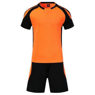 Smooth Jersey Soccer Uniform Team Training Short Sleeve Sports Suit