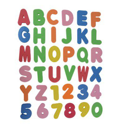 26 Letters and 0 - 9 Numbers Intelligence Toys for Children 36PCS