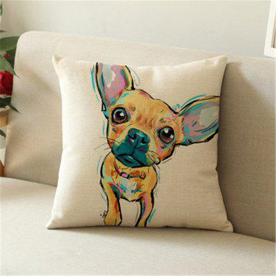 Lovely Painted Dog Linen Home with Pillowcase