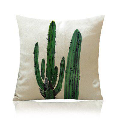 Individual Tropical Plant Cactus with Pillowcase