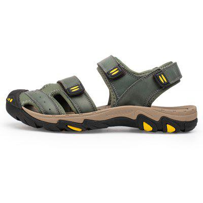 ZEACAVA Men Trendy Anti-slip Adjustable Leather SandalsMens Sandals<br>ZEACAVA Men Trendy Anti-slip Adjustable Leather Sandals<br><br>Contents: 1xShoes(Pair)<br>Materials: Genuine Leather<br>Occasion: Casual<br>Package Size ( L x W x H ): 30.00 x 20.00 x 10.00 cm / 11.81 x 7.87 x 3.94 inches<br>Package weight: 0.4500 kg<br>Pattern Type: Solid<br>Product weight: 0.4000 kg<br>Seasons: Summer<br>Style: Leisure<br>Toe Shape: Round Toe<br>Type: Sandals<br>Upper Material: Genuine Leather