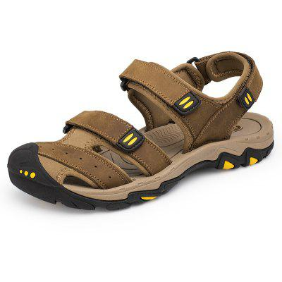 ZEACAVA Men Trendy Anti-slip Adjustable Leather Sandals