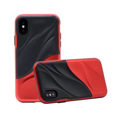 For iPhone X Case Dual Layer Heavy Duty 3D Textured Shock Cover