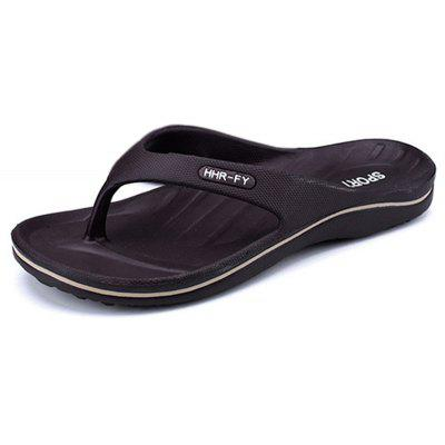 Buy Summer New Home Flip-flop Non-slip Casual Slippers for Men, DEEP BROWN, 44, Bags & Shoes, Men's Shoes, Men's Slippers for $27.09 in GearBest store