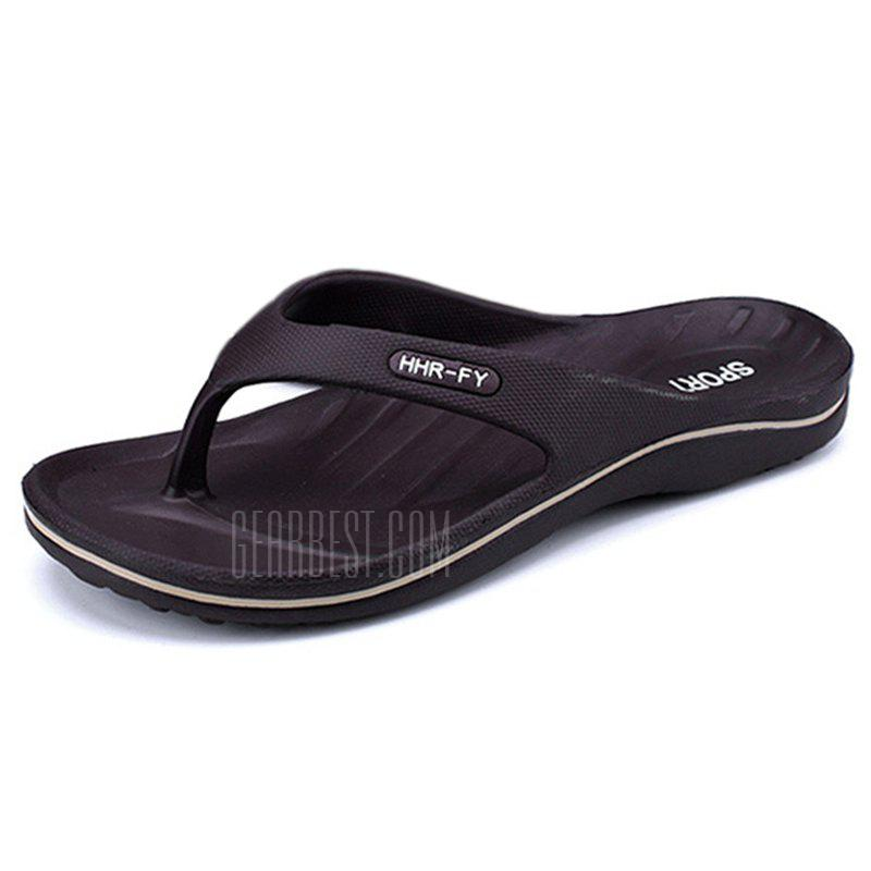 Summer New Home Flip-flop Non-slip Casual Slippers for Men, DEEP BROWN, 44, Bags & Shoes, Men's Shoes, Men's Slippers