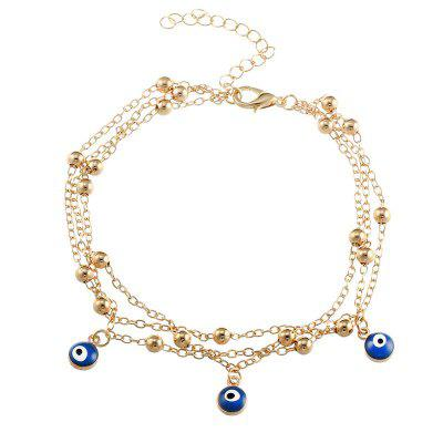New Bohemian Blue Eyes Pendant Summer Beach Anklet Chain Accessories