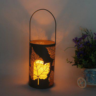 1PC Candle Lantern with Flickering Flameless Indoor Decorative Hanging Light