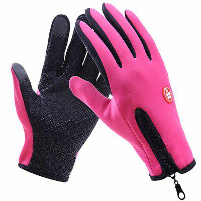 2PCS Touch Screen Winter Windproof Outdoor Cycling Sports Gloves