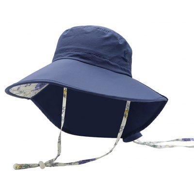 Vepeal Ladies' Fashionable Neck Protection Windproof Wide-brimed Hat