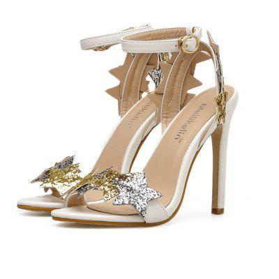 Spring and Summer 2018 New Sequins with Sexy SandalsWomens Pumps<br>Spring and Summer 2018 New Sequins with Sexy Sandals<br><br>Heel Type: Stiletto Heel<br>Occasion: Office &amp; Career<br>Package Contents: 1 xshoes(pair)<br>Pumps Type: Basic<br>Season: Summer, Spring/Fall<br>Toe Shape: Pointed Toe<br>Toe Style: Open Toe<br>Upper Material: PU<br>Weight: 1.5000kg