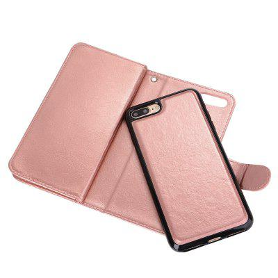 Premium Leather Phone Wallet Case Cover for iPhone 7 Plus for sony xz case cover embossed oil wax lines phone case cover pu leather wallet style case