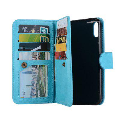for iPhone x Case Wallet   PU Leather Magnetic Flip Cover Card Holders