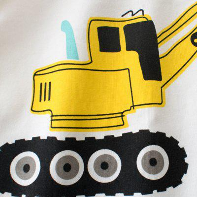 The New Children Cartoon Excavator Stitching Long Sleeve ShirtBoys Tops &amp; T-shirts<br>The New Children Cartoon Excavator Stitching Long Sleeve Shirt<br><br>Collar: Round Neck<br>Embellishment: Pattern<br>Head Drawstring: Without<br>Material: Cotton<br>Neck Drawstring: Without<br>Package Contents: 1 x Shirt<br>Pattern Type: Character<br>Sleeve Length: Full<br>Style: Casual<br>Weight: 0.1100kg