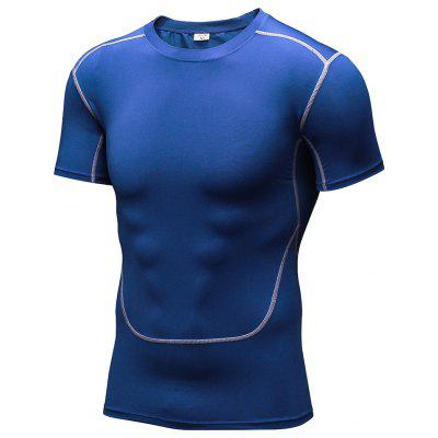Men Sportswear Fitness Tights Gym Costume T-Shirt Workout Running Shirt
