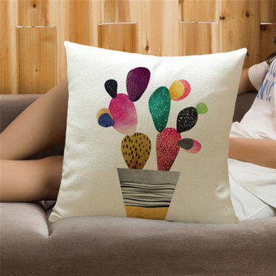Criativo Pintado Cactus Plant com Pillow Cover Home Decoration