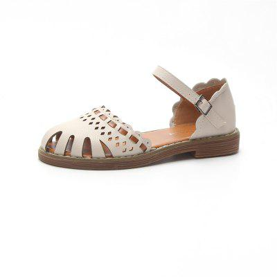 Hollow All-match Baotou Word Buckle Sandals