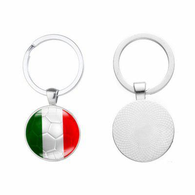 Creative Football Flag Model Keychain Souvenir creative handcuffs style keychain silver
