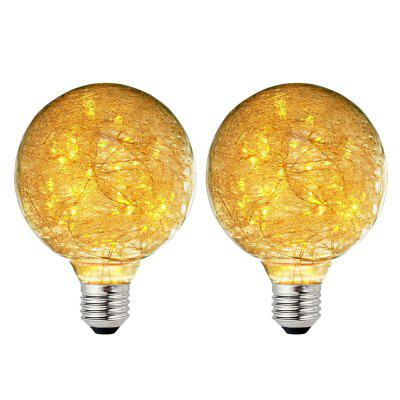 BRELONG G95 E27 47LED Vintage Edison Light Bulbs 2pcs