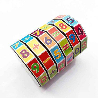 Cylindrical Six-order Rubik Cube Math Early Childhood Educational Toys jaheertoy montessori early childhood educational wooden toys geometric assembling blocks baby shape cognition teaching aid