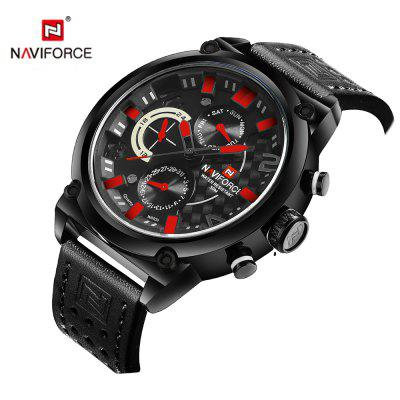 Naviforce Luxury Leather Band Men Sports WristwatchMens Watches<br>Naviforce Luxury Leather Band Men Sports Wristwatch<br><br>Band material: Leather<br>Case material: Stainless Steel<br>Clasp type: Pin buckle<br>Movement type: Quartz watch<br>Package Contents: 1 x Watch<br>Package size (L x W x H): 17.50 x 8.00 x 3.00 cm / 6.89 x 3.15 x 1.18 inches<br>Package weight: 0.2000 kg<br>Product size (L x W x H): 25.50 x 4.80 x 1.20 cm / 10.04 x 1.89 x 0.47 inches<br>Product weight: 0.2000 kg<br>Shape of the dial: Round<br>Watch style: Outdoor Sports, Military, Fashion<br>Watches categories: Men