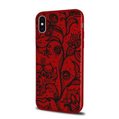 Soft Texture TPU Phone Case for iPhone X Back Cover Doodle Flowers