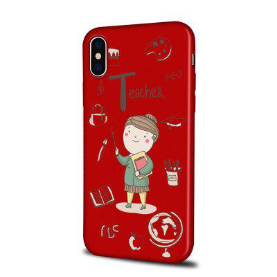 Soft Texture TPU Phone Case for iPhone X Back Cover Instructor